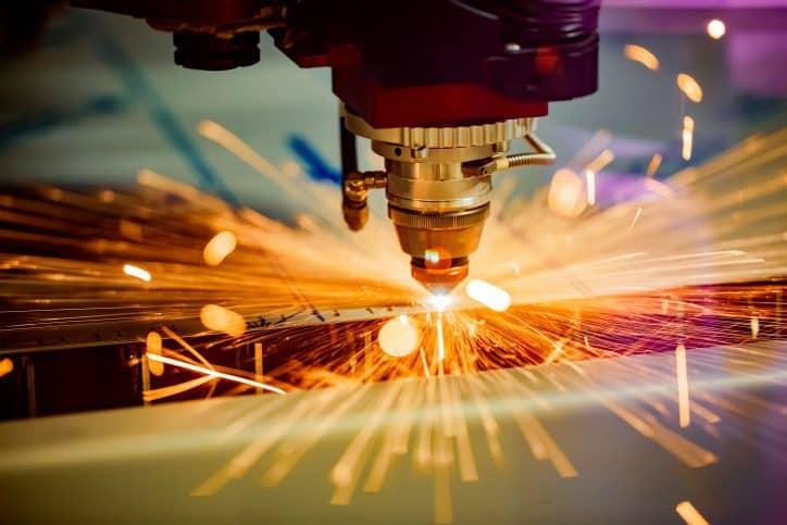 Laser Marking in Industrial Area